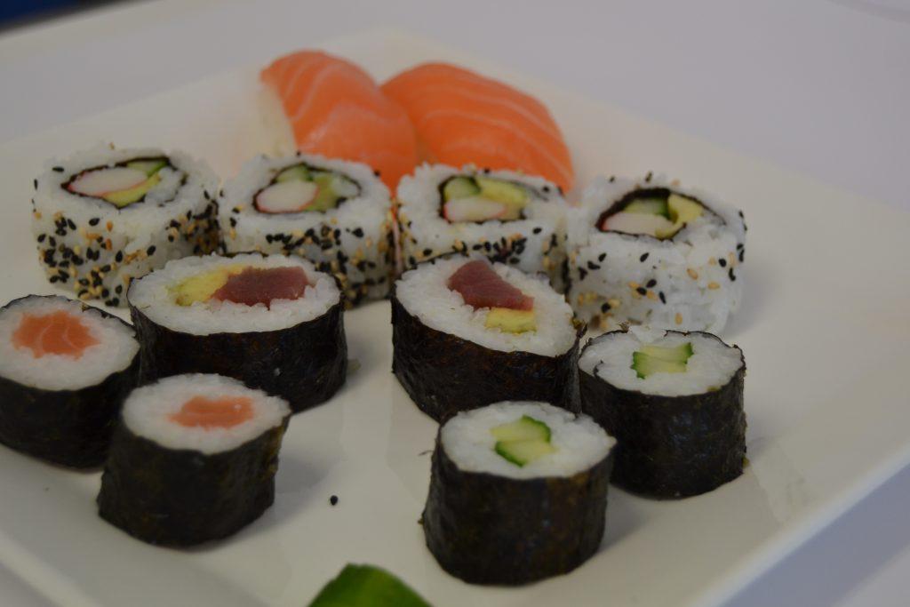 las proteínas en el sushi